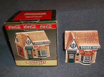 1997 Coca Cola Canister Collection Barber Shop Ceramic By Cavanagh - Nice