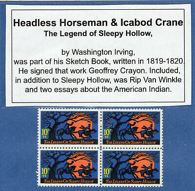 The Legend Of Sleepy Hollow - Us Postage Stamp - Mint Block