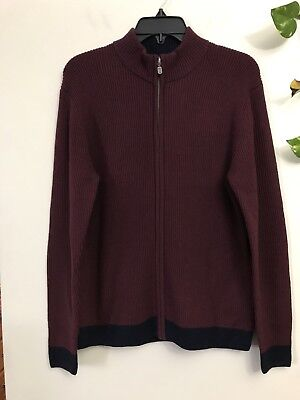 New With Tag Boys Brooks Brothers Full Zipper Fleece Sweater Size Large