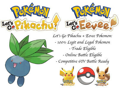 6IV Oddish Pokemon Lets go Pikachu Lets go Eevee Guide Battle Ready Legit