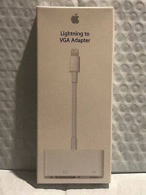 Genuine Apple - Lightning-to-VGA Adapter - White MD825AM/A