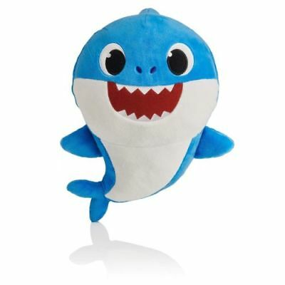 Blue Daddy Shark Official English Singing Plush WowWee Baby Shark IN HAND !