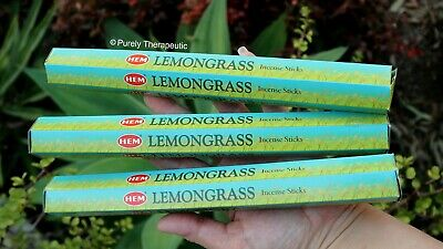LEMONGRASS INCENSE STICKS~Hem Hexagonal Pack of 20 x3 Sticks Wicca Ritual Pagan
