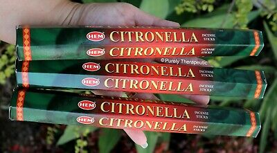 CITRONELLA INCENSE STICKS~Hem Hexagonal Pack of 20 Sticks Wicca Ritual Pagan