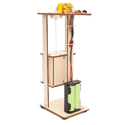 DIY Electric Lift Kids Educational Toy Elevator Model Children Science Toy