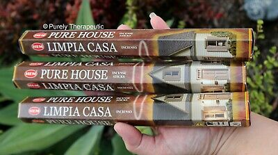 PURE HOUSE INCENSE STICKS~Hem Hexagonal Pack of 20 Sticks Wicca Ritual Pagan