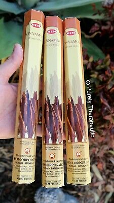 CINNAMON INCENSE STICKS~Hem Hexagonal Pack of 20 Sticks Wicca Ritual Pagan