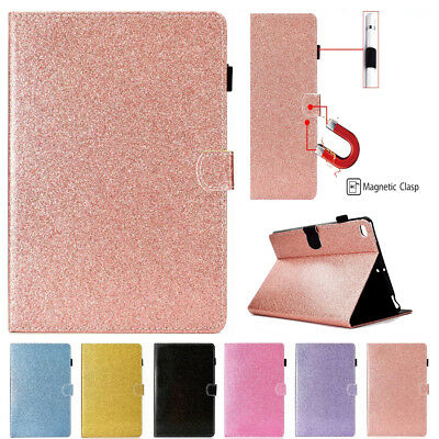 "For Apple iPad Pro 11"" inch 2018 Glitter Smart Leather Card Cover Stand Case New"