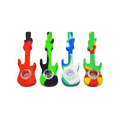 Silicone Besse Hand Smoking Pipe with Glass Bowl Herb Cigarette Filter Holder