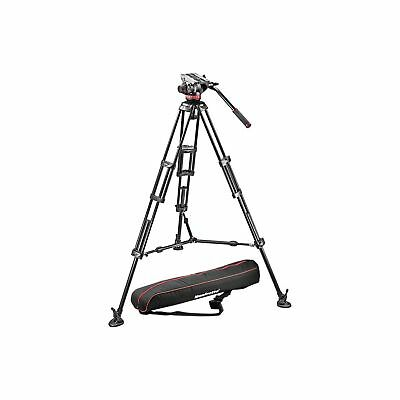 Manfrotto MVH502A,546BK-1 Professional Fluid Video System with Aluminum Legs ...