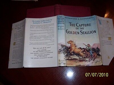 THE CAPTURE OF THE GOLDEN STALLION Montgomery HORSE George Giguere ~DJ 1961 PONY