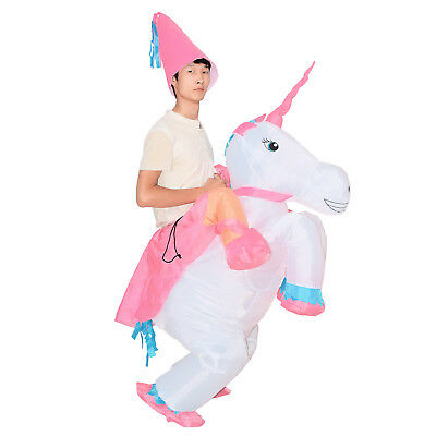 Inflatable Unicorn Costume Adult Blow Up Suit Kid Party Gift Cosplay