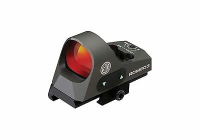 Sig Sauer SOR31002 Romeo 3 Miniature Reflex Sight with Riser 1x25mm 3 MOA Red...