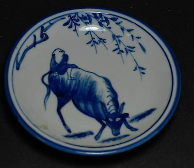 Antique Japanese Blue And White Porcelain Plate ~ 6''~