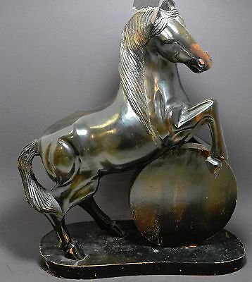 Vintage Large Hand Carved Horse Figurine ~ 16'' Tall ~