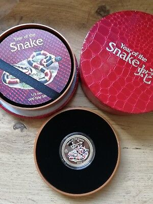 Niue 2013 1$ Year of the Snake - Coral Lunar 1/2 oz Proof Silver Coin