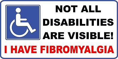 Not all Disabilities are Visible Fibromyalgia sticker decal