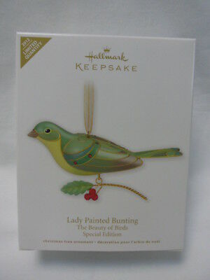 Hallmark 2012 Lady Painted Bunting Beauty of Birds limited special edition