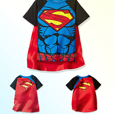 Warner Bros. Superman & Batman Toddler Boys' Cape T-Shirt Set 3T
