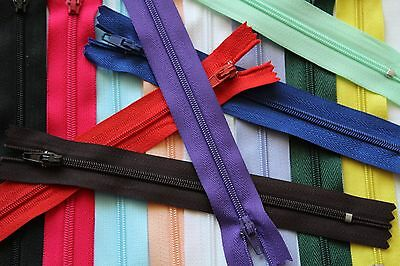 20 Inch Regular Closed End Zips (Various Colours)