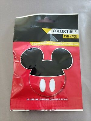Disney Pin 2012 MICKEY MOUSE ICON Mystery (Contains 5 pins) New in Bag!!