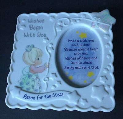 Precious Moments Ceramic Frame - Wishes Begin With You - Reach For The Stars