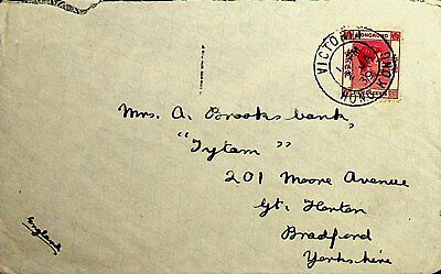 HONG KONG 1939 15c KG VI ON COVERS TO ENGLAND W / SCARCE CACHET AT BACK