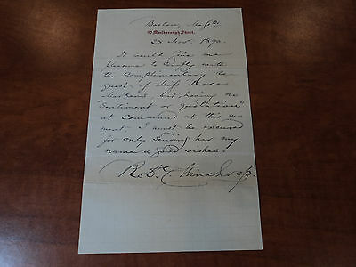 ROBERT C. WINTHROP -  Speaker of the House - Signed AUTHENTIC Vintage Letter ALS
