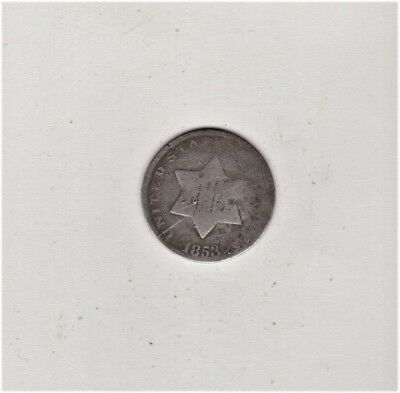 1853 3 Cent Silver Free Shipping