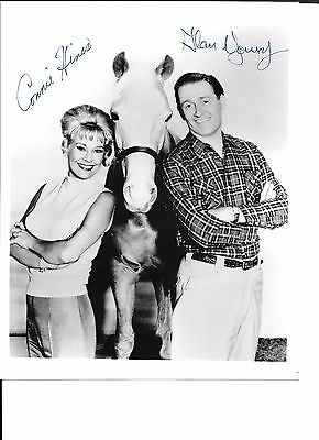 Mister Ed 8x10 BW glossy cast photo signed / autographed in-person by 2