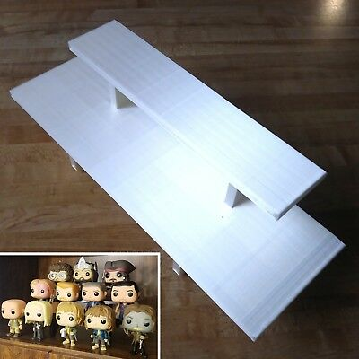 12 inch - White Funko Pop! Display Shelf Riser - Holds Up to 7 Pops On 2 Levels