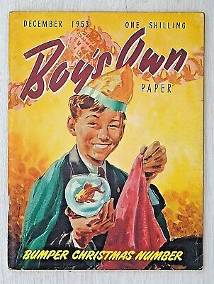 BOY'S OWN PAPER - XMAS ISSUE !! DECEMBER 1953 - RARE 65th BIRTHDAY GIFT !! dandy