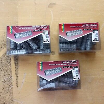 "[3 Boxes of 10] New Cobra 245M Lag Screw Shields 1/2"" S -  For use in 3/4"" Drill"