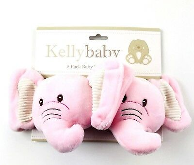 KellyBaby Pink Elephant Strap Covers Baby Child Safety Seat And Stroller