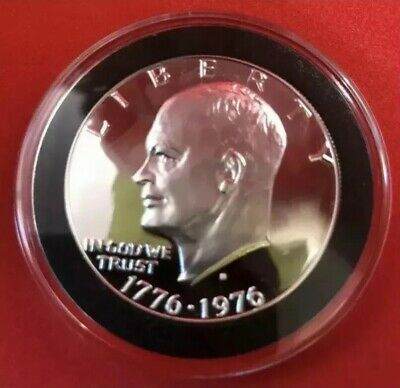 1976 S Eisenhower Bicentennial Silver Gem Proof Ike Dollar In Coin Capsule!