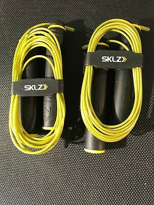 Lot of 2 (TWO) NEW SKLZ Speed Jump Rope Adjustable Strength Conditioning  Core