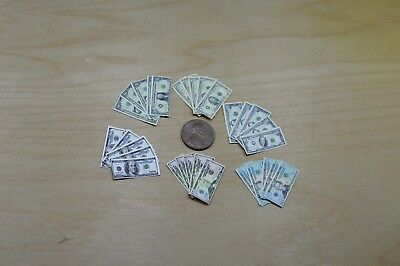 Miniature Play Money in 1:6 Play scale US Currency