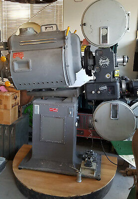 Vintage Authentic 35Mm Movie Theatre Full Size Film Projector Display Piece