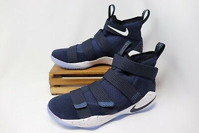 20cc3e7c408a Nike Lebron Soldier XI 11 Basketball Shoes Blue White Red 897644-401 Men s  NEW