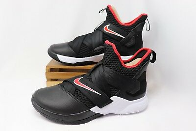 ecb4fa8a94f0 Nike Lebron Soldier XII 12 Basketball BRED Black Red White AO2609-001 Men s  NEW