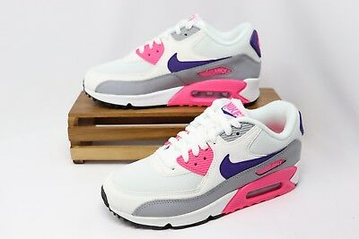 sports shoes 7863b 1ab8e Nike Women s Air Max 90 Shoes Laser Pink Wolf Gray Court Purple 325213-136  NEW