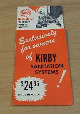"VTG 1950's Vacuum Cleaner ADVERTISING Brochure~""KIRBY SANITATION SYSTEMS"""