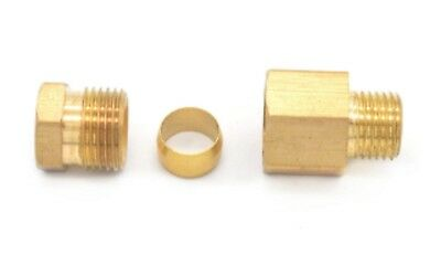 """Auto Grease 1/8"""" or 1/4"""" Lubrication Brass oil Pipe Fitting 4mm Tube Compression"""