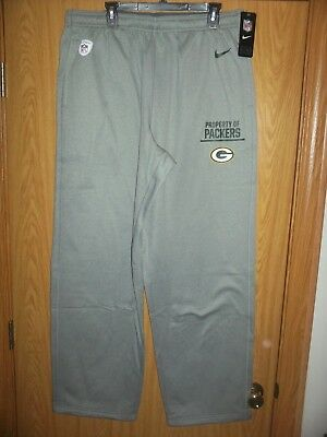 7e9326e2f381 Green Bay Packers Nike Therma-Fit Mens Size 3Xl Gray Track Pants Nwt  75