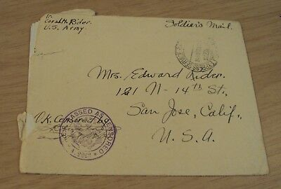 """1918 WWI Letter from A.E.F. France~""""Sunday CAMP Life""""~"""