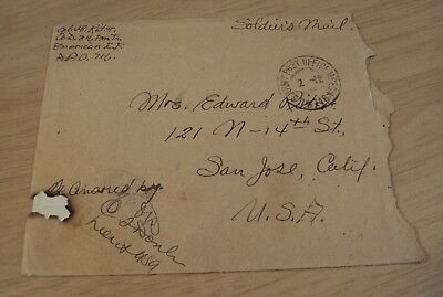 """1918 WWI Letter from A.E.F. France~""""Driving HOSPITAL Truck""""~"""