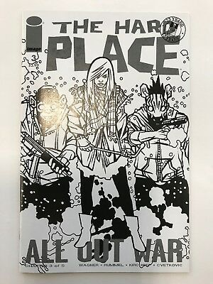 THE HARD PLACE #3 B//W SKETCH VARIANT WALKING DEAD #116 TRIBUTE Image 2017 NM