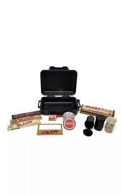 Rolling Paper Depot Smoker's Kit with RAW King Size Papers (Black)