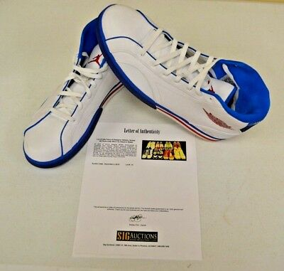d74e541ec0cc NIKE Air Jordan Philly 318598-161 sz 15 DWAYNE WADE Personally Owned Shoes  COA