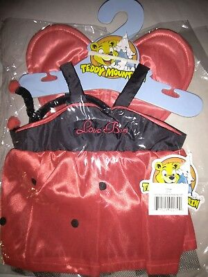 "Lady Bug Dress with Antenna Teddy Bear Clothes Fits Most 14"" - 18"" Build-a-Bear"